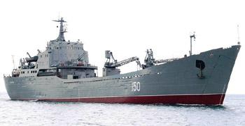 """Големият десантен кораб на руския Черноморски флот """"Саратов"""""""