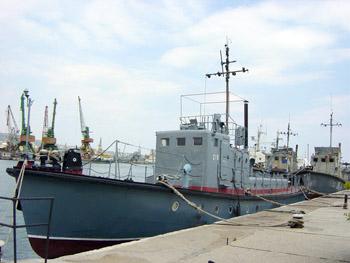 Катерните миночистачи (рейдов катер проект 501) от Петата дивизия в Балчик след пребазирането им във Военноморска база Варна.